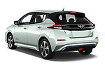 Car pictures of rear three quarter view of a 2019 Nissan Leaf SV 5 Door Hatchback angular rear