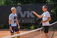 Amstelveen, Netherlands, 10 August 2020, NTC, National Tennis Center,  KNLTB coach Bas Coulier (NED)  coaching Jelle Sels (NED)<br /> Photo: Henk Koster/tennisimages.com
