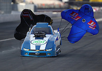 Feb 11, 2017; Pomona, CA, USA; NHRA top alcohol funny car driver Shane Westerfield during the Winternationals at Auto Club Raceway at Pomona. Mandatory Credit: Mark J. Rebilas-USA TODAY Sports