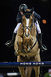 Joe Clee on Fento Chin S competes during the Airbus  Trophy at the Longines Masters of Hong Kong on 20 February 2016 at the Asia World Expo in Hong Kong, China. Photo by Juan Manuel Serrano / Power Sport Images