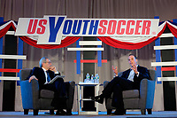 Philadelphia, PA - Saturday January 20, 2018: JP Dellacamera, Michael Winograd during the U.S. Soccer Federation Presidential Election Candidates Forum hosted by US Youth Soccer at the Philadelphia Marriott Downtown Grand Ballroom.