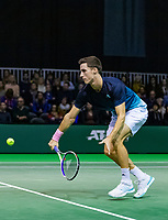 Rotterdam, The Netherlands, 12 Februari 2019, ABNAMRO World Tennis Tournament, Ahoy, first round doubles: Joe Salisbury (GBR) (L),<br /> <br /> Photo: www.tennisimages.com/Henk Koster