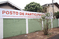 Serrana (SP), 16/02/2021 - Projeto S-SP - Escola Edesio M. de Oliveira. Escolas que serão usadas como Postos de Participação do Projeto S do instituto Butantan na cidade de Serrana, interior de São Paulo, na manhã desta terça-feira (16). O estudo, inédito no mundo, foi idealizado  pelo Instituto Butantan e tem como objetivo analisar o impacto e a eficácia da vacinação na redução de casos de Covid-19 e no controle da pandemia.