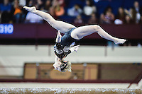 Oregon State's Cerise Witherby competes on the balance beam during the semifinals of the NCAA women's gymnastics championships, Friday, April 17, 2015 in Fort Worth, Tex.(Mo Khursheed/TFV Media via AP Images)