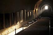Arequipa, Peru. Long hall with paintings on the walls; Santa Catalina Monastery.
