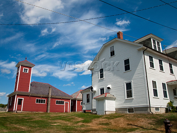 USA, Neuengland, Gebaeude im Canterbury Shaker Village in New Hampshire, 06.09.2010<br /> <br /> Engl.: USA, New England, New Hampshire, Canterbury Shaker Village, buildings, 06 September 2010