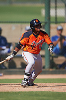 San Francisco Giants Miguel Gomez (23) during an instructional league game against the Kansas City Royals on October 23, 2015 at the Papago Baseball Facility in Phoenix, Arizona.  (Mike Janes/Four Seam Images)