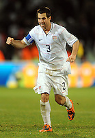 Carlos Bocanegra of USA celebrates at full-time. USA defeated Spain 2-0 during the semi-finals of the FIFA Confederations Cup at Free State Stadium in Manguang/Bloemfontein, South Africa on June 24, 2009..