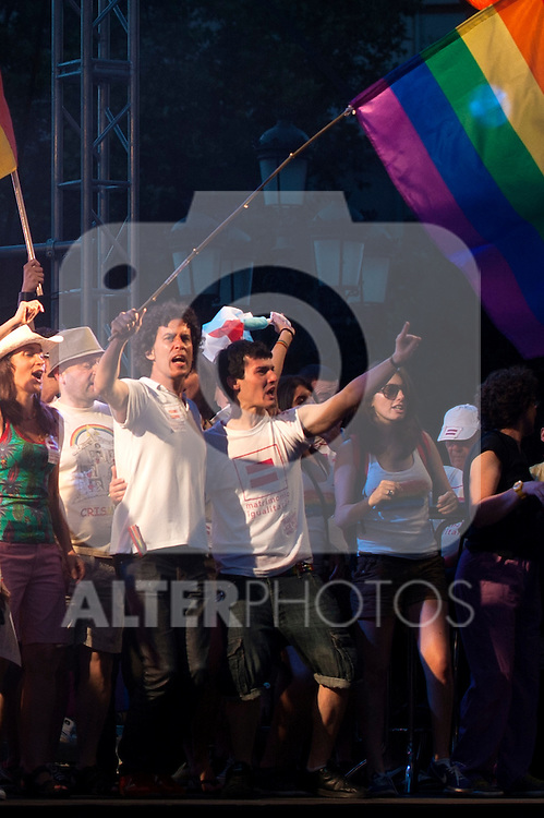 Pedro Zerolo (Councillor PSOE Council Madrid) Gay pride demonstration 2012, equal marriage and equality without cuts