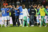 Siegesjubel Darmstadt, Frust bei Werder Bremen - SV Darmstadt 98 vs. SV Werder Bremen, Stadion am Boellenfalltor