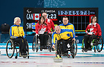 Ina Forrest, PyeongChang 2018 - Wheelchair Curling // Curling en fauteuil roulant.<br /> Canada plays Sweden in Wheelchair curling // Le Canada affronte la Suède au curling en fauteuil roulant. 11/03/2018.