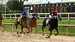 May 25, 2015 Street Story (#10, ridden by Florent Geroux) wins the 12th running of the G3 Winning Colors Stakes at Churchill Downs. Street Story is a 4 year old dark bay/brown filly owned by Whispering Oaks Farm LLC (Carrol Castille) and trained by Steven M. Asmussen.  By Street Cry x Perfect Story (Tale of the Cat.) 2nd place Heykittykittykitty, 3rd place Spring Included.  ©Mary M. Meek/ESW/CSM