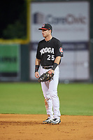 Chattanooga Lookouts first baseman Brent Rooker (25) during a game against the Jackson Generals on May 9, 2018 at AT&T Field in Chattanooga, Tennessee.  Chattanooga defeated Jackson 4-2.  (Mike Janes/Four Seam Images)