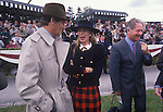 Race horse trainer, Mrs Susan Sangster Mr Robert  Sangster having just won. Cartier Million Horse race Dublin 1989s.