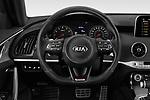 Car pictures of steering wheel view of a 2018 KIA Stinger GT 5 Door Hatchback