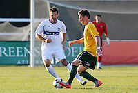Luca Bellisomo (white) Vancouver Whitecaps, Luke Kreamalmeyer...AC St Louis and Vancouver Whitecaps played to a 0-0 tie at Anheuser-Busch Soccer Park, Fenton, Missouri.