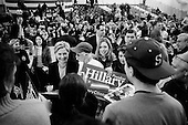 Manchester, New Hampshire.January 6, 2008..Democratic presidential candidate Sen. Hillary Clinton (D-NY) talks during a campaign event at Nashua North High School. Coming off a third place finish in the Iowa caucus Hillary Clinton is looking to rebound in the New Hampshire primary..