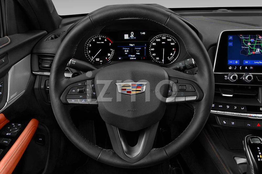Car pictures of steering wheel view of a 2020 Cadillac CT4 Premium-Luxury 4 Door Sedan Steering Wheel
