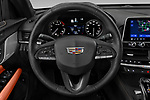 Car pictures of steering wheel view of a 2020 Cadillac CT4 Premium-Luxury 4 Door Sedan Steering Wheel