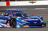 #90 Corvette DP, Richard Westbrook, Michael Valiante, Brickyard Grand Prix, Indianapolis Motor Speedway, Indianapolis, Indiana, July 2014.  (Photo by Brian Cleary/www.bcpix.com)