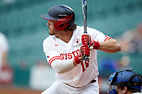 Grayson Padgett (18) of the Houston Cougars at bat against the Kentucky Wildcats in game two of the 2018 Shriners Hospitals for Children College Classic at Minute Maid Park on March 2, 2018 in Houston, Texas.  The Wildcats defeated the Cougars 14-2 in 7 innings.   (Brian Westerholt/Four Seam Images)