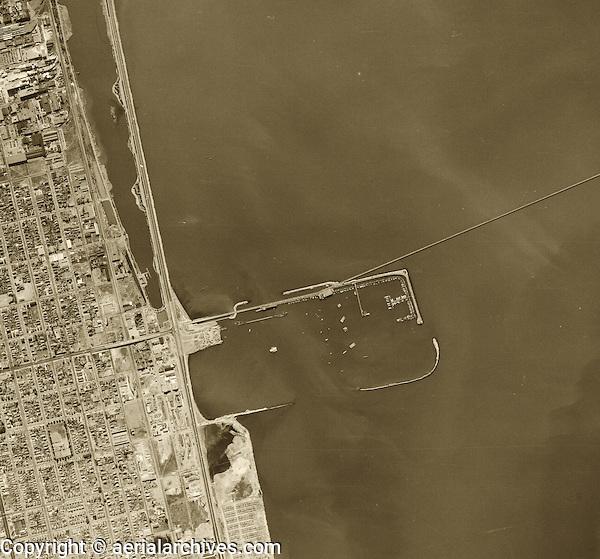 historical aerial photograph Berkeley Marina, Berkeley, California, 1946
