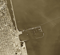 historical aerial photograph Berkeley Marina, Berkeley, California, 1946