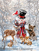 Dona Gelsinger, CHRISTMAS SANTA, SNOWMAN, WEIHNACHTSMÄNNER, SCHNEEMÄNNER, PAPÁ NOEL, MUÑECOS DE NIEVE, paintings+++++,USGE2119,#x#