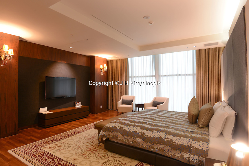Inside some of the rooms at the at Pyeongchang resorts which will host thew 2018 Winter Olympics. Resort will host some events  for the 2018 Winter Olympics and 2018 Winter Paralympics in Pyeongchang.