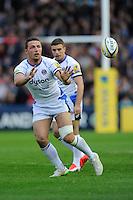 Sam Burgess of Bath Rugby receives  a pass