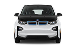 Car photography straight front view of a 2017 BMW i3 Range-Extender 5 Door Hatchback Front View