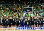 11.09.2011, Vilnius Arena, Vilnius, LTU, FIBA EuroBasket 2011, Litauen vs Deutschland, im Bild Players of Germany listening to the national anthemn during basketball game between National basketball teams of Lithuania and Germany at FIBA Europe Eurobasket Lithuania 2011, on September 11, 2011, in Siemens Arena,  Vilnius, Lithuania. EXPA Pictures © 2011, PhotoCredit: EXPA/ Sportida/ Vid Ponikvar  +++++ ATTENTION - OUT OF SLOVENIA/(SLO) +++++