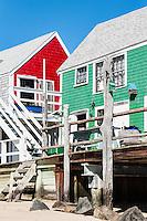 Colorful Provincetown beach houses, Cape Cod, Massachusetts, USA.