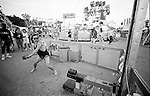 In Muskegon, Michigan the Midway Carnival comes to town. It is full of rides, games, the world's smallest lady, the sledge hammer game and of the townspeople coming out for a good time.