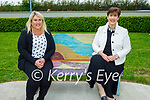 Principal Michelle O'Brien welcoming Norma Foley TD Minister of Education to O'Brenann NS on Wednesday,