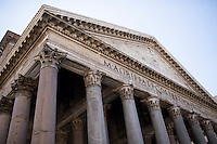 The exterior of the Pantheon is seen on Thursday, Sept. 24, 2015, in Rome, Italy. (Photo by James Brosher)