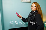 Eileen McSweeney at home in Tralee and Eileen records requested songs on her phone and has an audience as far away as Australia and Chicago, USA