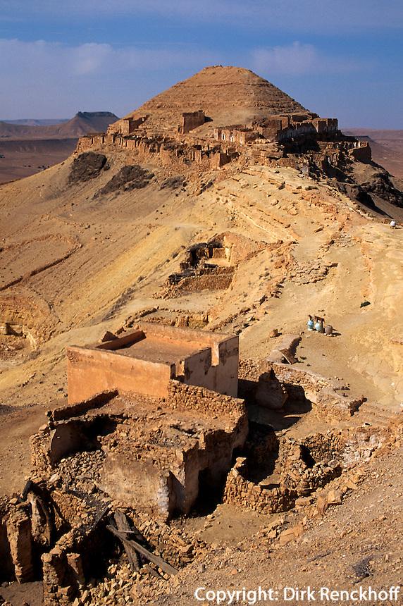 Speicherburg in  Guermessa, Tunesien