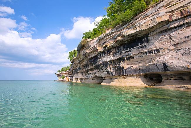 Kayaking the cliffs, Pictured Rocks