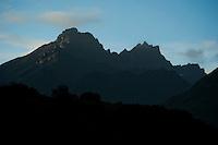 Morning light on the Chugach Mountains, Alaska.