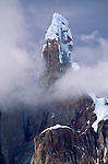 Cerro Torre rising out of mist, Los Glaciares National Park, Argentina