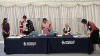 Organisers help run the graduation celebrations, University of Surrey.
