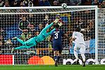 Keylor Navas of Paris Saint-Germain FC during UEFA Champions League match between Real Madrid and Paris Saint-Germain FC at Santiago Bernabeu Stadium in Madrid, Spain. November 26, 2019. (ALTERPHOTOS/A. Perez Meca)