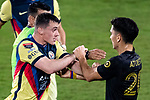 Federico Vinas of Club America (MEX) argues with Richard Sanchez #20 of Los Angeles FC (USA) during their CONCACAF Champions League Semi Finals match at the Orlando's Exploria Stadium on 19 December 2020, in Florida, USA. Photo by Victor Fraile / Power Sport Images