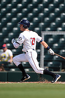 Fort Myers Miracle outfielder Max Kepler (20) at bat during a game against the St. Lucie Mets on April 19, 2015 at Hammond Stadium in Fort Myers, Florida.  Fort Myers defeated St. Lucie 3-2 in eleven innings.  (Mike Janes/Four Seam Images)