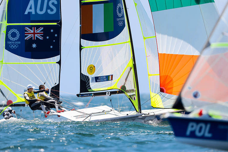 Robert Dickson and Sean Waddilove are lying 11th after four races sailed Photo: Sailing Energy