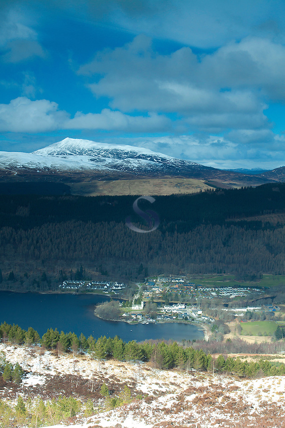 Kenmore and Loch Tay from Creag Fhudhair above Kenmore, Perthshire