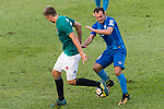 SC Kitchee Defender Daniel Cancela Rodriguez (R) in action against Aleksandr Kokko of Long Lions (L) during the Community Cup match between Kitchee and Eastern Long Lions at Mong Kok Stadium on September 23, 2017 in Hong Kong, China. Photo by Marcio Rodrigo Machado / Power Sport Images