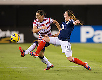 Ali Krieger, Lisa Evans.  The USWNT defeated Scotland, 4-1, during a friendly at EverBank Field in Jacksonville, Florida.