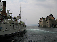 Château de Chillon and Lake Geneva steamboat